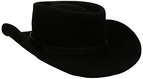 Twister Men's Crushable Gambler Hat, black, Small -