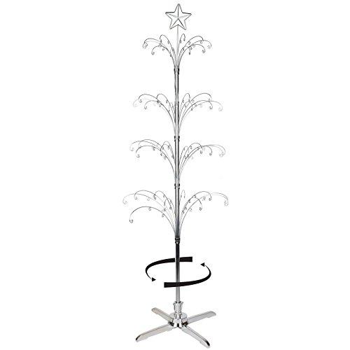 (Rotating Ornament Trees Silvertone 74