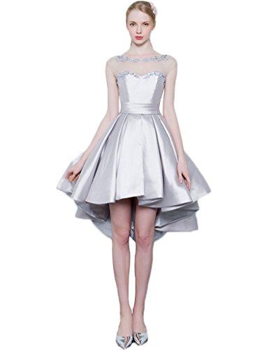 Erosebridal Brautjungferkleid niedrig Abendkleid Grau hoch 0qZ0SpP