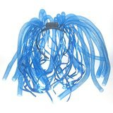 Light Up Blue Wig (Light Up LED Flashing Noodles Headband Costume - Various Colors by Mammoth Sales (Blue))