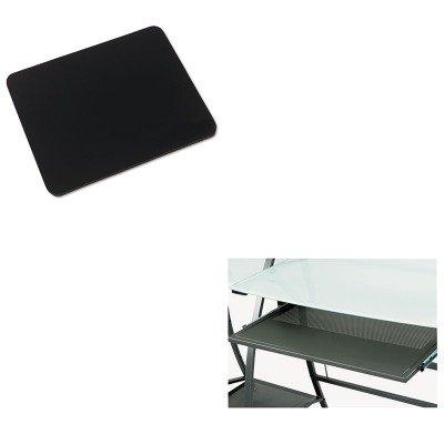 KITIVR52448SAF1940BL - Value Kit - Safco Xpressions Keyboard Tray (SAF1940BL) and Innovera Natural Rubber Mouse Pad (IVR52448) -