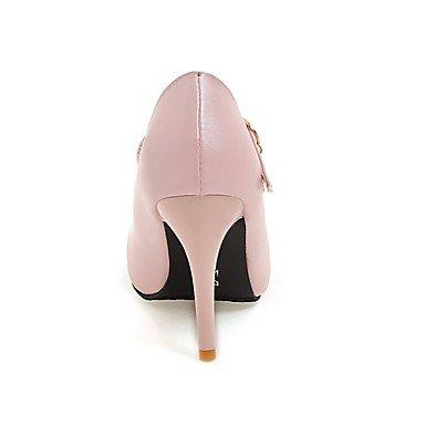 Le donne sexy elegante sandali donna tacchi Primavera Estate Autunno Inverno scarpe Club PU Office & Carriera Party & abito da sera Stiletto Heel strass rosa nero bianco , nero , us5 / EU35 / UK3 / CN