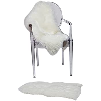 ruglush tm super soft sheepskin rug u2013 excellent quality faux fur rug u2013 modern stylish design u2013 used as an area rug or across your armchair u2013 back lining