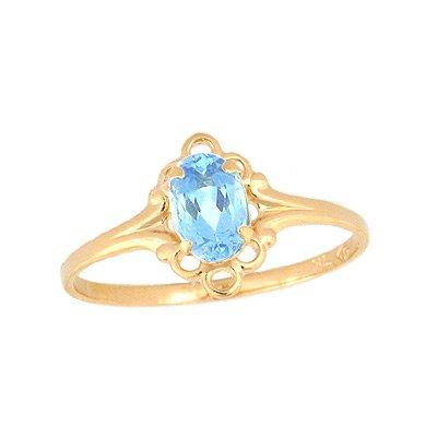 Genuine Blue Zircon Ring - 4