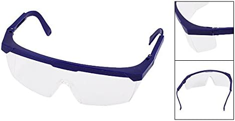 Dark Blue Uxcell Adjustable Arms Clear Lens Protective Glasses Goggles
