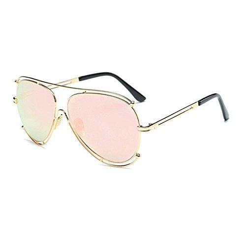 Aoligei Les lunettes de soleil de grand cadre Fashion Lady lunettes de soleil lunettes de soleil rétro européen et américain B