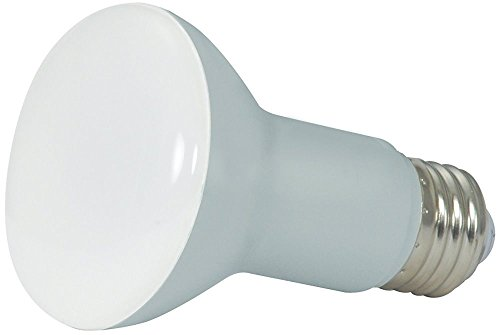 ((Case of 4) SATCO S9630 6.5W LED R20 Dimmable Reflector Bulb in Warm White 2700K - Replaces 50 Watt 2.5