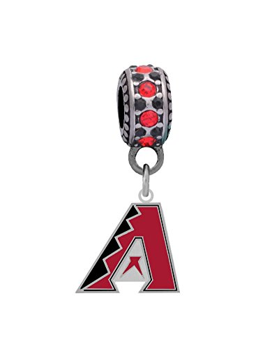 Arizona Diamondbacks Charm with Connector Fits Pandora, Troll, Biagi and More.