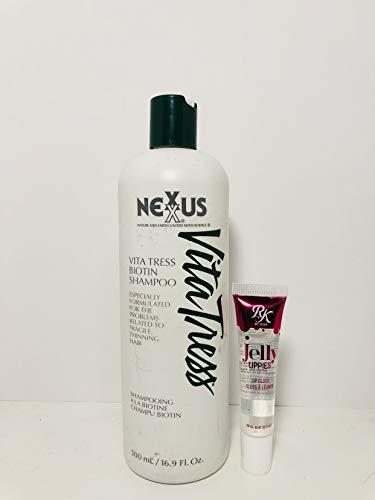 NVitatress Biotin Shampoo fr shining hair 500ml-16.9oz - Free RK Jelly Lippie Gloss