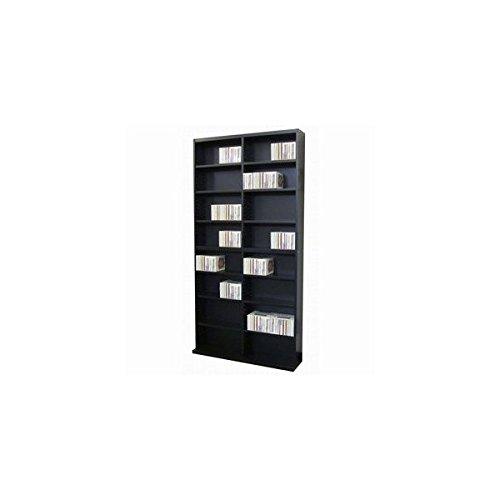 DVD&CDラック DUCD-720 BK(ブラック) B00RE8JS1I