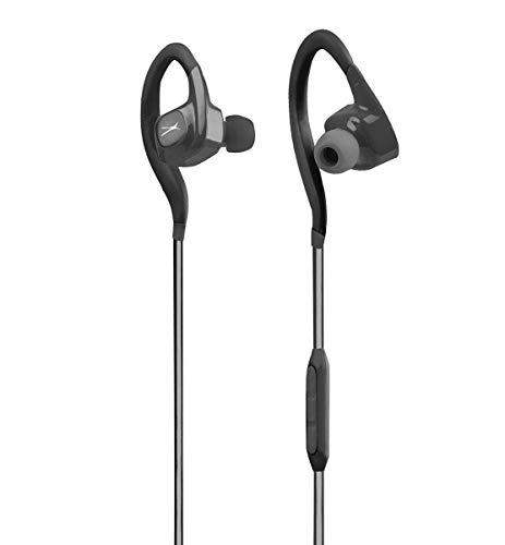 - Altec Lansing MZX499 Waterproof Sweatproof Flexible Adjustable Ear Tip Behind The Ear Earbuds Headphones with Microphone, Black (Non-Retail Packaging)
