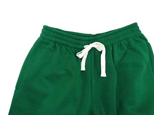 Tank Men's Lightweight Basic Fleece Cargo Pants-14 Variety of Colors, Size S to 6XL Kelly Green ()