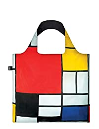 LOQI Reusable Tote Bag, Mondrian Print, United States Carry-On