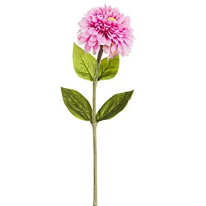 "29"" Zinnia Silk Flower Stem -Pink (Pack of 12) 34"