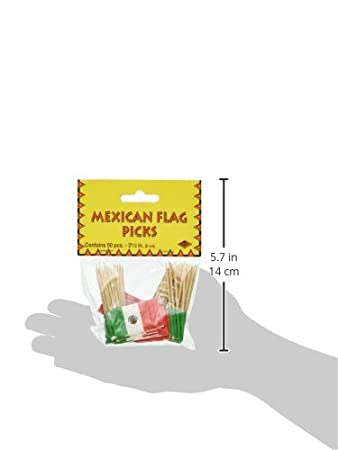 50-Count Beistle Mexican Flag Picks 2.5-Inch