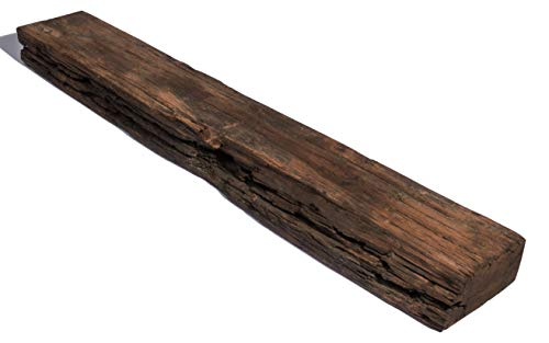 Handcrafted Industrial Floating Wooden Shelf - Reclaimed Railroad Tie Wood - 36 inches