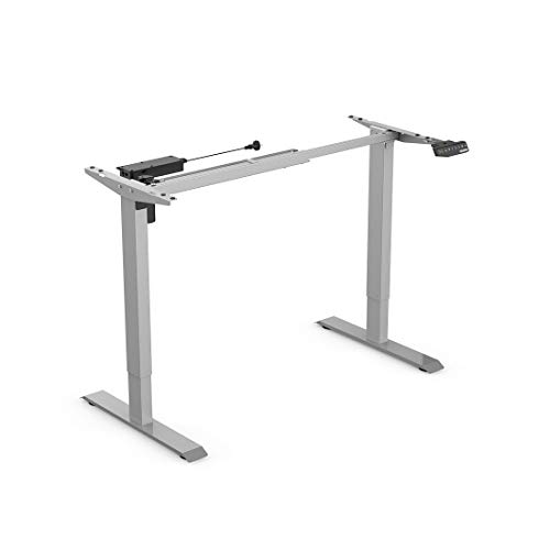 Flexispot E1S Height Adjustable Desk Frame Electric Sit Stand Desk Base Home Office Stand up Desk Grey Frame