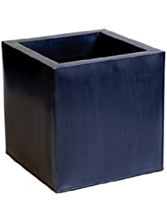 Cache-Pots Cubes en Zinc Galvanisé - Gris Anthracite - Grand 40 cm ...