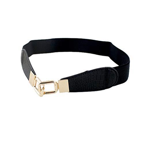 ZhangHongJ,Ocio elástico cinturón(Color:Negro)