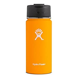 Hydro Flask 12 oz Double Wall Vacuum Insulated Stainless Steel Water Bottle / Travel Coffee Mug, Wide Mouth with BPA Free Hydro Flip Cap, Mango