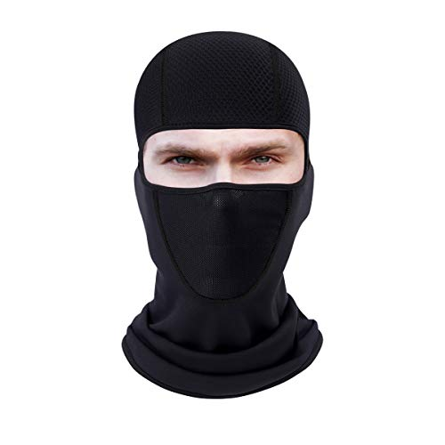 hikevalley Ski Mask Cold Weather, Designed Balaclava Motorcycle Cycling Face Mask Super Breathable Men & Women Helmet Hood