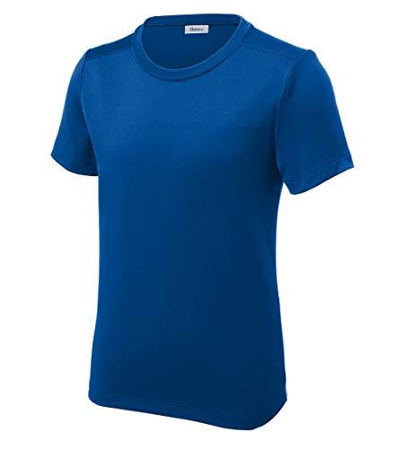 Opna Youth UPF 50+ UV Sun Protection Long or Short Sleeve Boys Girls T-Shirt Athletic Outdoor True Royal