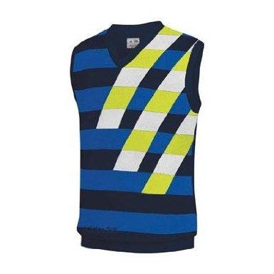 Sweater V-neck Vest Performance (Adidas Performance Men's Graphic Sweater Vest (Large, Navy/Royal/White/Limeade))