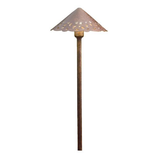 Kichler Lighting 15843TZT27 Decorative Hammered Roof 4W 2700K Design Pro LED 12V Path & Spread Landscape Fixture, Textured Tannery Bronze Finish by Kichler Lighting