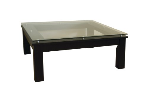 Plateau SL-TCS 35 x 35 B Wood Accent Table, 35 by 35-Inch, Black Satin Paint (Plateau Decor Series)