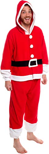 Silver Lilly Unisex Pajamas - One Piece Cosplay Holiday Santa Claus Costume (M) -