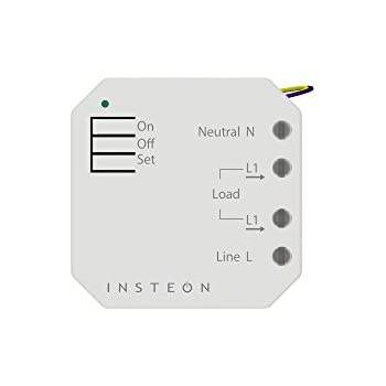Insteon Micro On/Off Switch Adapter, Inline Module, 2443-222 - Insteon Hub required for voice control with Alexa & Google Assistant