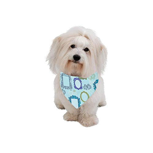 XINGCHENSS Pet Dog Cat Bandana Dressing Mirror Small Objects Beauty Fashion Printing Bibs Triangle Head Scarfs Kerchief Accessories for Large Dog Pet Birthday Party Easter Gifts ()