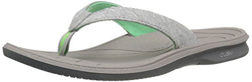 Cush Women's Sandal New Grey Balance Thong Green Heathered qE577gw6