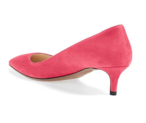 Bureau 6 Shoes Femme Rose Soiree Heel 5 Classique elashe Fermé Bout Escarpins Kitten Chaussures CM Pointu Rw6EW7pBq