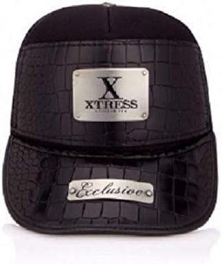 Xtress Exclusive gorra negra de cuero para hombre y mujer: Amazon ...