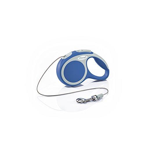(Flexi Vario Retractable Dog Leash (Cord), 10 ft, Extra-Small, Blue)