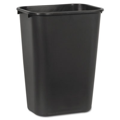Boardwalk 41QTWBBLA Soft-Sided Wastebasket, 41 qt, Plastic, Black (Plastic Trash Bins)