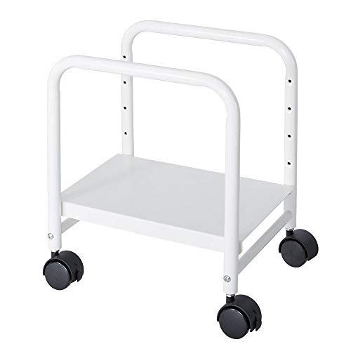 EUREKA ERGONOMIC Computer Cart Height-Adjustable Mobile CPU Stand Suitable for Sit Stand Desk Converters White