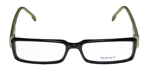 [Gant Lyceum Mens/Womens Vision Care Contemporary Rectangular Full-rim Flexible Hinges Eyeglasses/Eye Glasses (54-15-135, Black /] (Laurel And Hardy Costumes Online)