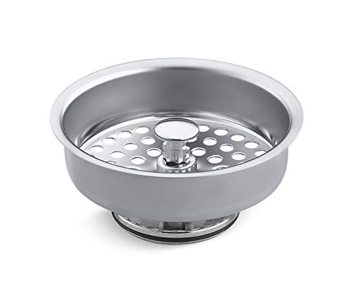 Kohler 48694 Duostrainer Basket Strainer, Polished Chrome (Chef Kohler Sink Executive)