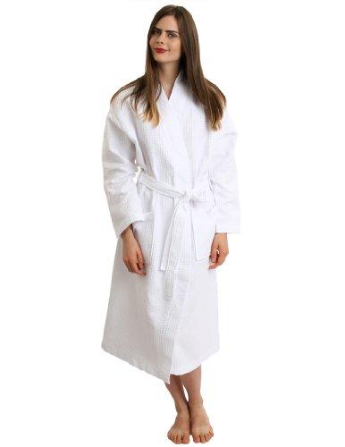 e003754688 TowelSelections Turkish Cotton Waffle Bathrobe Kimono Waffle Robe Made in  Turkey