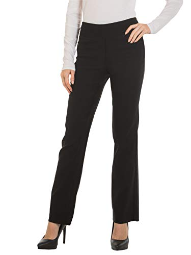 Red Hanger Bootcut Dress Pants for Women -Stretch Comfy Work Pull on Womens Pant Black-M