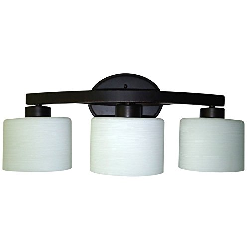 - allen + roth 3-Light Merington Aged Bronze Standard Bathroom Vanity Light