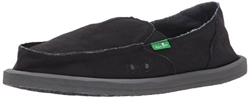 Sanuk 1018950 Women's Donna Daily Slip-on Loafer, Black, 10 M US