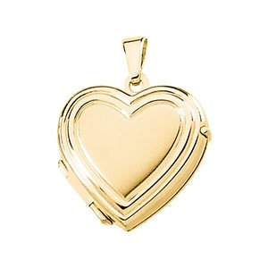 Childrens 14k Yellow Gold Petite Heart Locket by The Men's Jewelry Store (for HER)