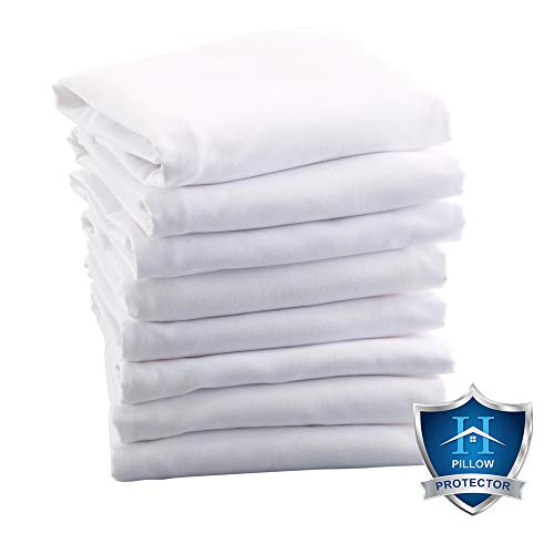ALLERelief 8 Pack 100% Microfiber Zippered Pillow Protectors. Allergy Control, Hypoallergenic Dust Mite & Bed Bug Resistant Anti-Microbial Zippered Pillow Covers. (Standard)