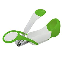 Baybee Baby Nail Clipper with Magnifier Safety Nail Cutter Toddler Infant Scissor Manicure Pedicure Care Pack of 1…