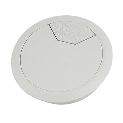 Amazon.com: DealMux Computer Desk 80 milímetros Dia Light Gray plástico cabo Buraco Tampa Grommet: Electronics