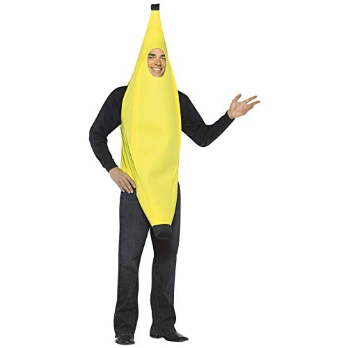 Rasta Imposta Lightweight Banana Costume, Yellow, Adult, One Size