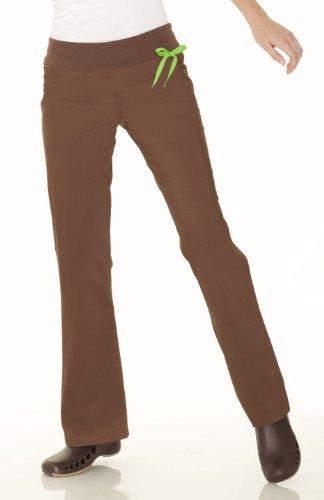 Urbane 9301 Women's Knit Waistband Pant Chocolate X-Small Tall - Chocolate Landau